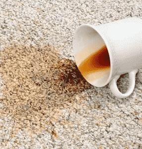 coffee mug spill on carpet